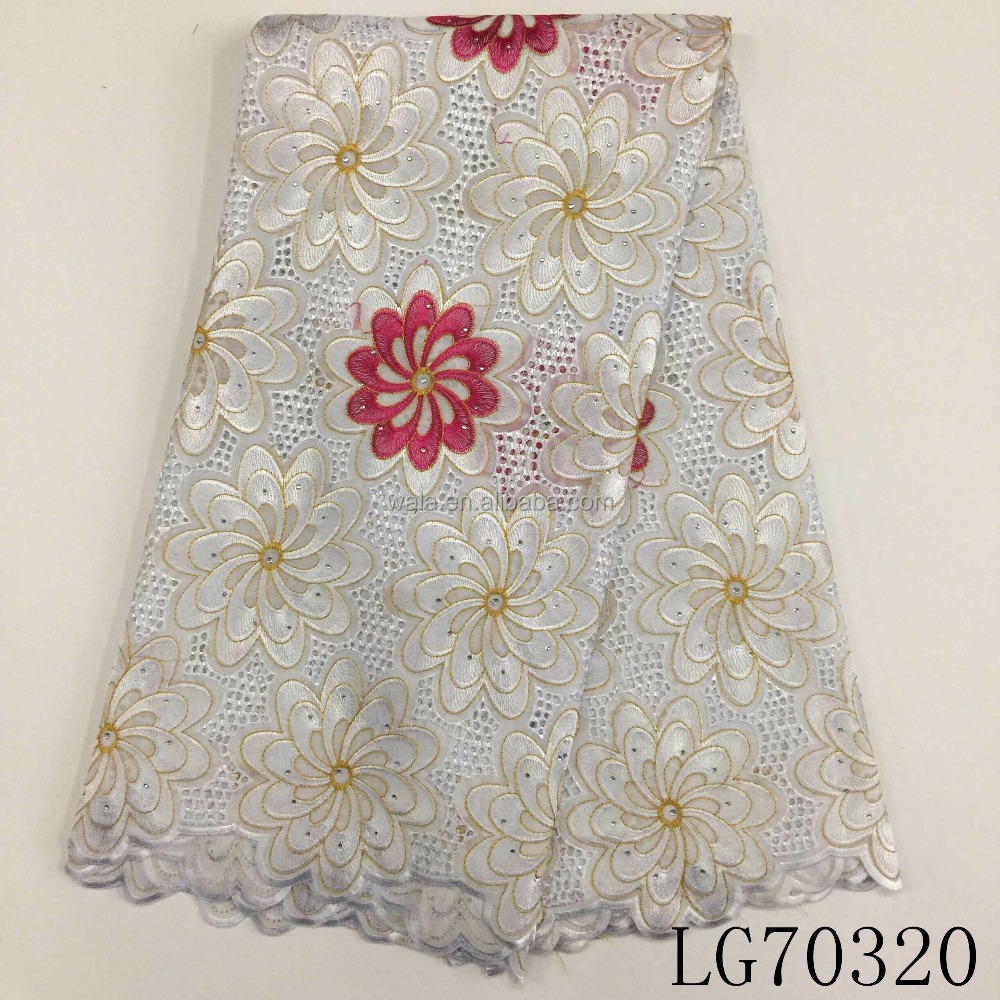 LG70320 chea wholesale African flower Swiss voile lace in Switzerland design cheap prices cotton lace