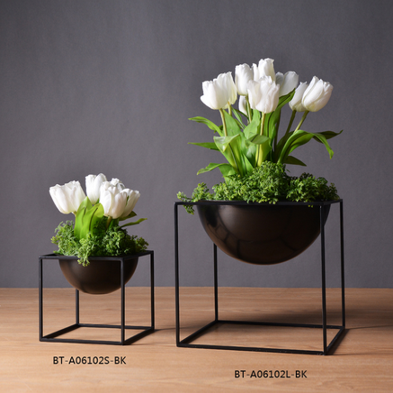 Metal flower vase table decoration home accessory