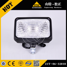 geunine parts PC300-8 excavator work lamp ass'y 21T-06-32810 with competitive price