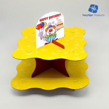 Cute DIY Foldable Wholesale Cardboard Cupcake Stand