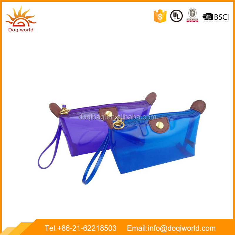 Clear pvc material cosmetic bag for promotion
