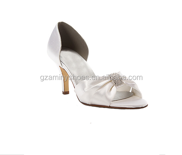 Fshion white women bridal wedding shoes low heel shoes for women 2015