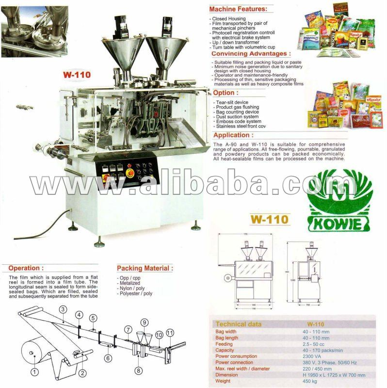 Horizontal Twin Sachet Packing Machine