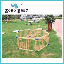 Pine wood baby playpen China sulipper baby play pen