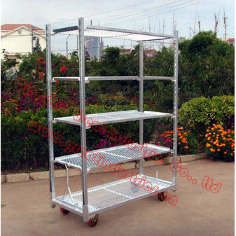 Display Flower Trolley cart.Danish Trolley.Gardening Transport Cart, Steel Rolling Trolley Tool cart.Greenhouse Equiment TC2253