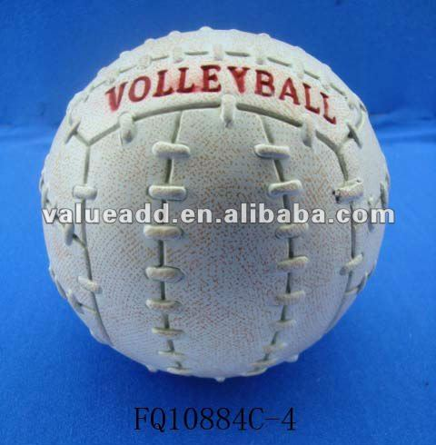 ceramic volleyball money bank