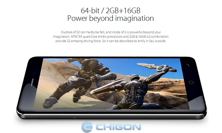 Original ELEPHONE S2 5.0 Inch HD MTK6735 Quad Core 2GB RAM 16GB ROM 4G FDD LTE Smartphone Android 5.1 GPS 2.0+8.0MP Camera BT4.0