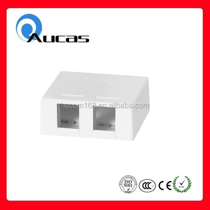 single or dual port rj45 cat6 /cat5e plastic surface mounted box