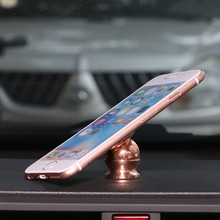 Rose gold cell phone holder stainless steel metal materials 360 rotating car holder compatible with GPS