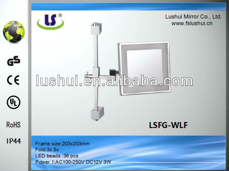 wall mounted make up mirror chains decoration