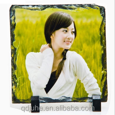 Whole sale! Blank sublimation slate photo Rock Photo
