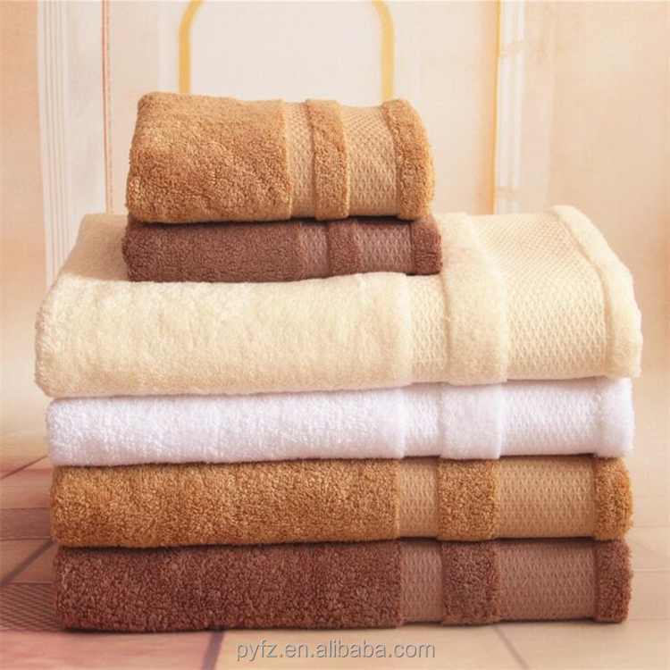 china supplier 100% cotton bath towel set