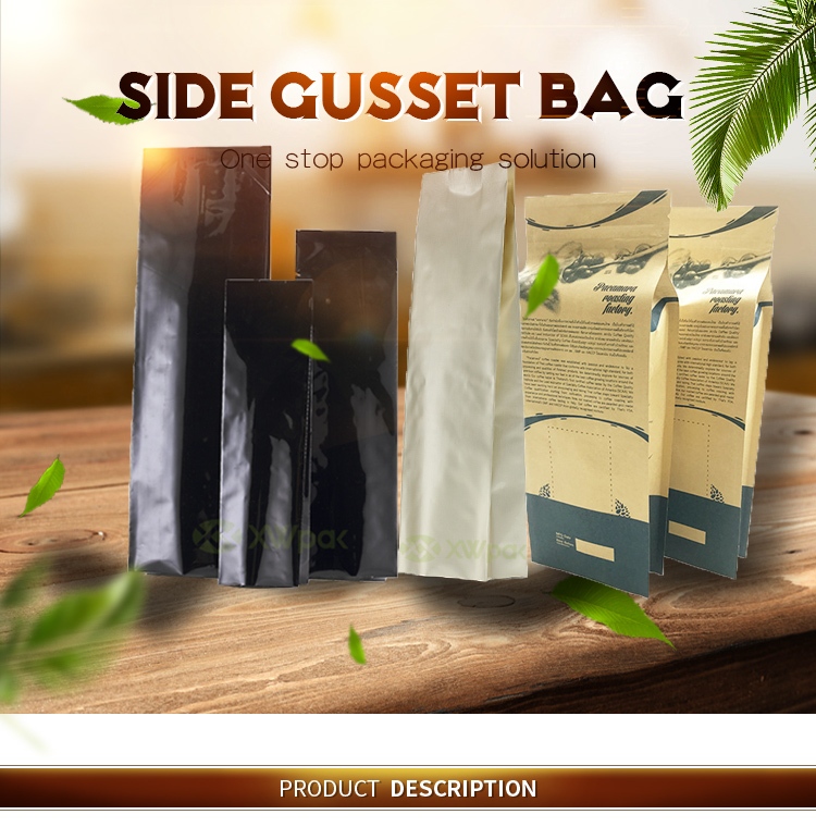 Side Gusseted Bag For Coffee