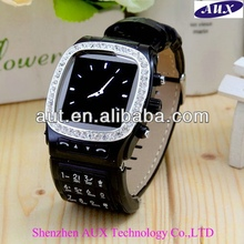 Factory price unlocking fashion watch mobile phone with diamond N9