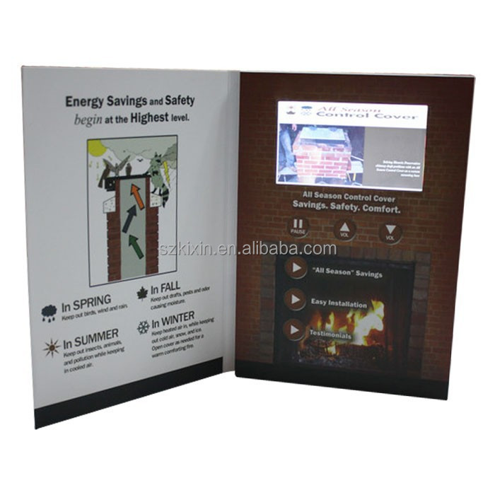 TFT LCD video greeting card ODM OEM Chinese factory