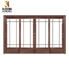 Dutch 4 panel aluminum frame glass sliding patio entrance doors
