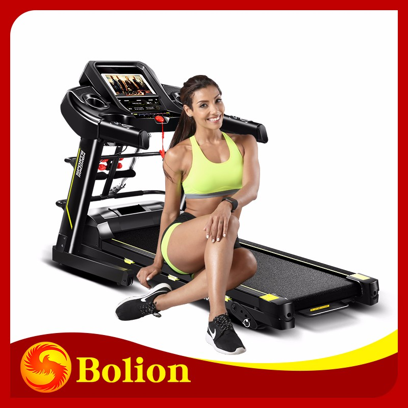 2.5 hp dc motor 480mm multifunctional with 5 inch screen easy exercise fit machine treadmill arm and leg trainer//