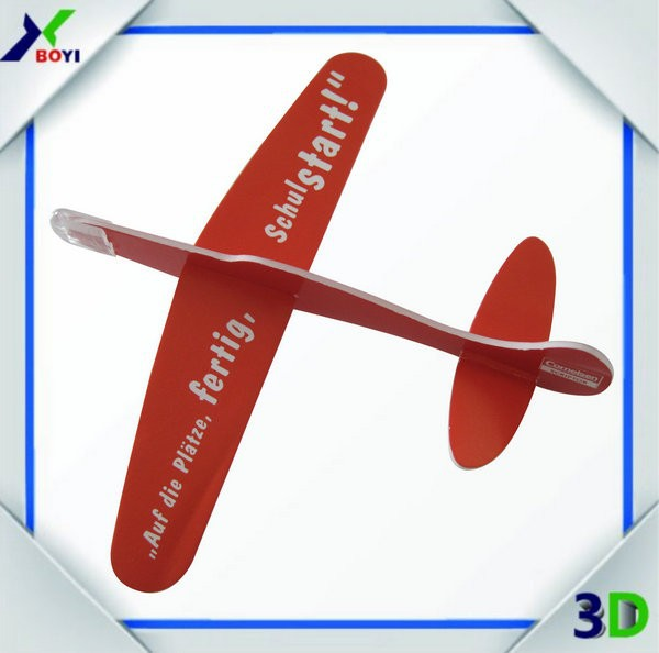 Customized size and design Styro foam and paper 3d airplane model puzzle toy diy 3d paper puzzle