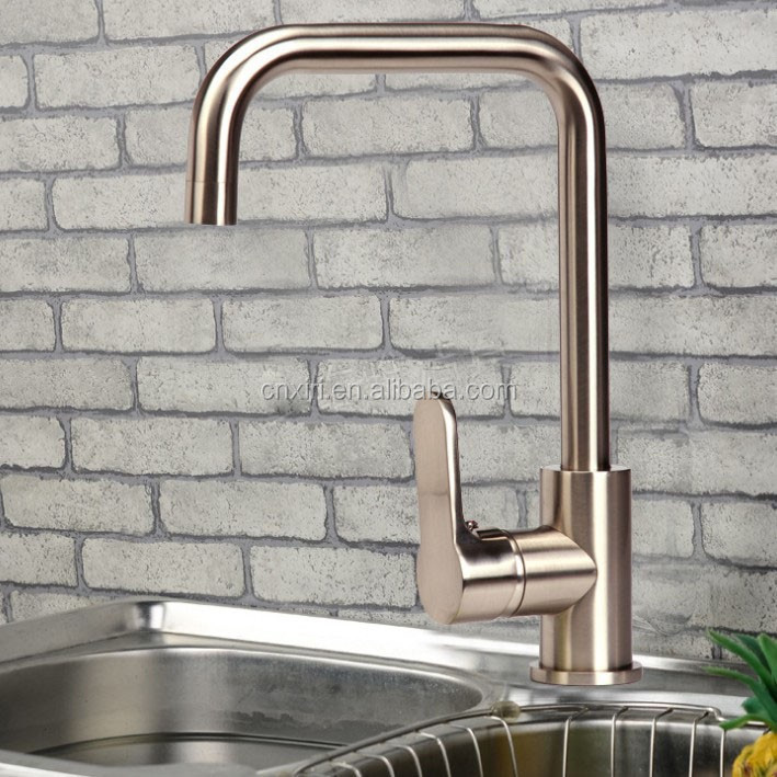 Polished Copper Kitchen Basin Faucet Single Handle Sink Mixer Tap New D-1