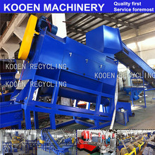KOOEN PP PE Film Crush Washing and Granulating Recycle Machine