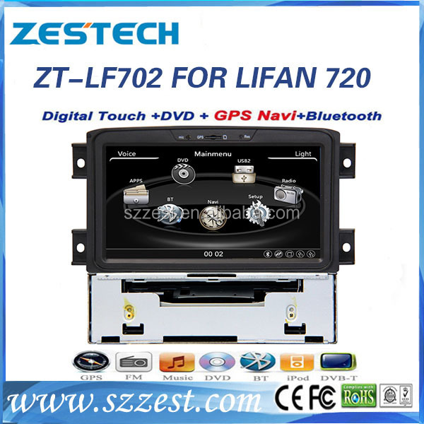 ZESTECH double din car dvd player for Lifan 720