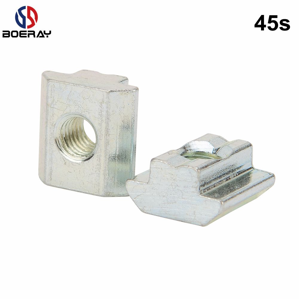 4545 Series Aluminum Extrusion Profile T Slot 8mm Drop in Nut M4/M5/M6/M8/<strong>M10</strong>