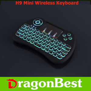 Customized H9 Mini Keyboard with Touchpad colorful backlit computer keyboard With Bottom price 2.4G Wireless remote