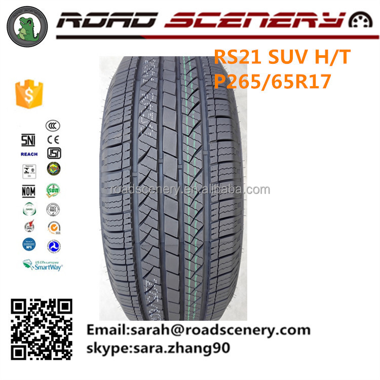 New Radial Tire Design Tubeless Semi steel Type SUV Car Tire P265/65r17 with UTQG:500/A/A