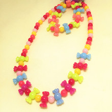 2016 Colorful Kids candies bead plastic bead necklace jewelry set