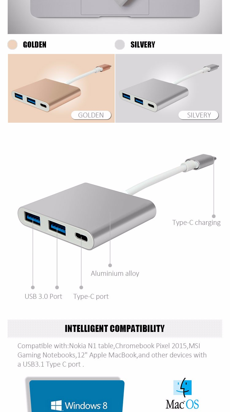 Good Promotional Wholesale Quick Charging usb 3.1 type-c multi charging dock With Data Cable For Mobile Computer,Phone,Tablet