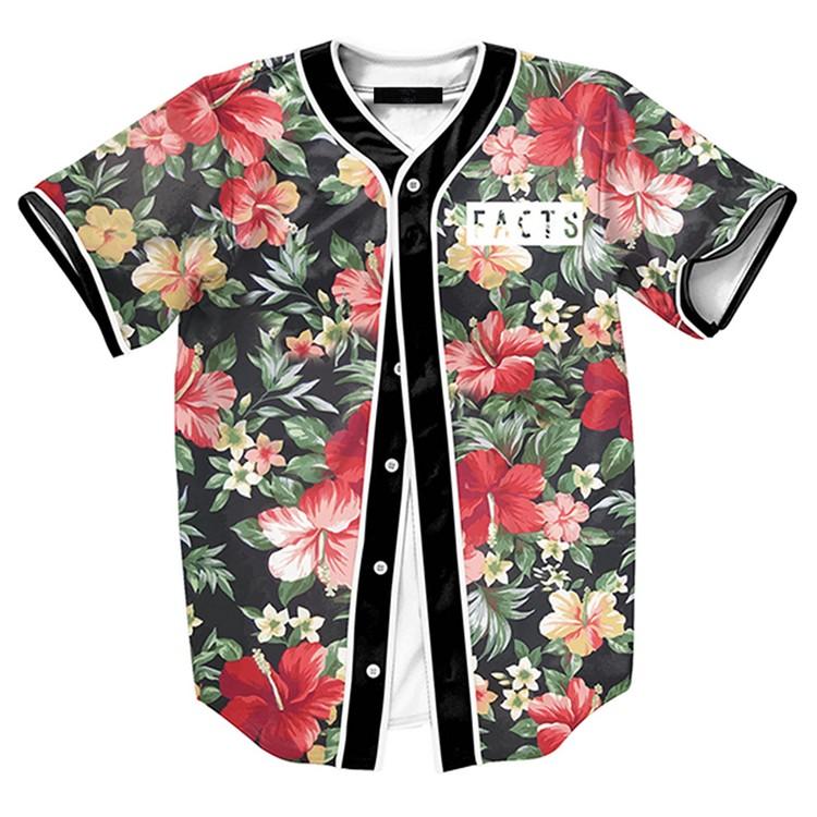 Full button up summer sublimation baseball t shirt buy for Baseball jersey t shirt custom