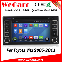 Wecaro WC-TU6229 android 4.4.4 car dvd player for toyota vitz dashboard 2005 - 2011 3G wifi playstore