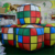 Inflatable Cash Rubiks Cube Advertising PVC Balloons / Attractive Display Flashing LED Ice Cube Ball