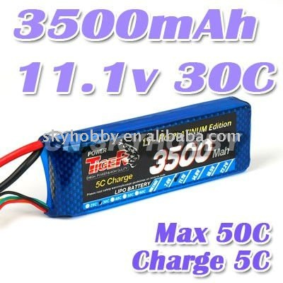 3500mah 11.1v 30C RC Lipo battery airplane/Helicopter battery