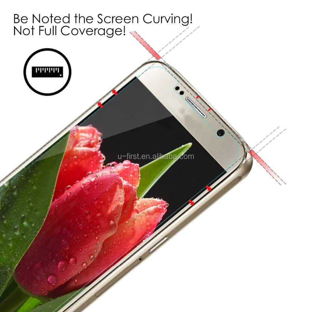 2016 Newest tempered glass screen protector for samsung s7 with high quality