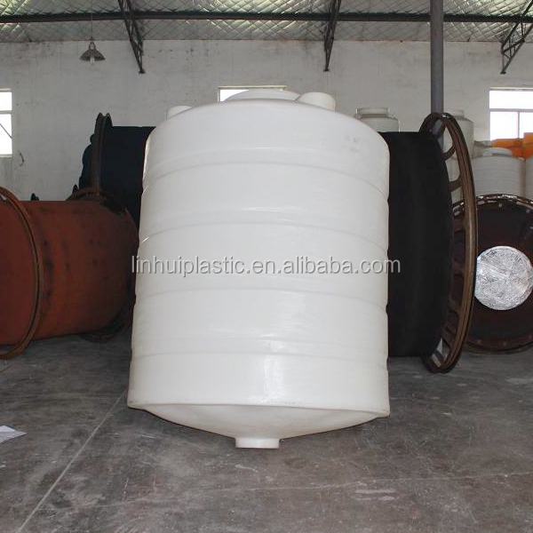 Rotomolding food grade water treatment plastic cone tank 1000liter