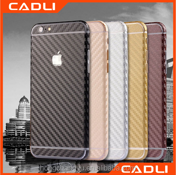 Carbon fiber skin sticker full body wrap phone case for iPhone 7