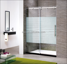 I shape shower booth 8mm glass sliding rollers shower door parts