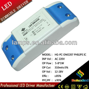 soluxled LED Dimmable driver lamps driver 5-8*1W constant current power supply high efficiency