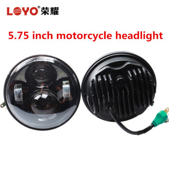 "DOT E-mark 5.75"" round led projector headlight for harley motorcycle  led"