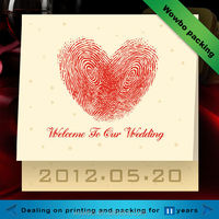 high quality creative design paper wedding invitation card hot sale