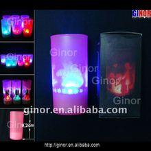 led grave logo candle light