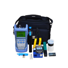 Portable FTTH Fiber Optic ToolKit with Fiber Cleaver and Optical Power Meter and Visual Fault Locator