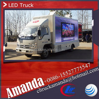 Forland 4*2 98hp small mobile led screen truck xxx video, led screen truck mobile