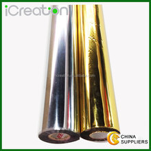 Grade A gold Cotton textile fabric hot stamping foil