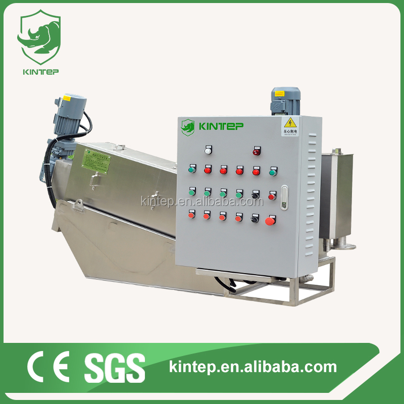 Automatic screw press sludge dehydrating machine for oil water treatment