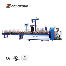 WBF-PUR300 easy operation hot melt glue pvc profile wrapping machine for wood