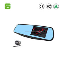 1080p car dvr dash camera 4.3 inch manual car camera hd dvr 170 degree rearview mirror radar detector