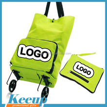 Wholesale newest folding travel bag, folding shipping trolley bag with 2wheels