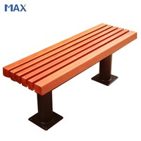 polystyrene long backless wooden plastic bench outdoor